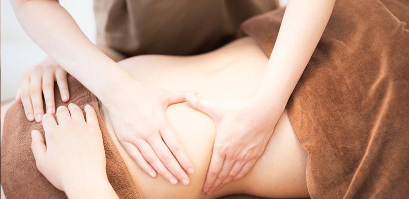 腹部のマッサージ(上半身の場合)